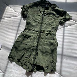 Army green romper